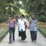 walking into lodi garden