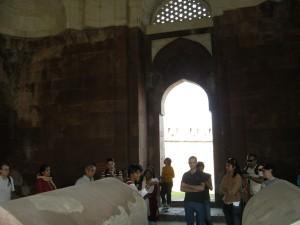 at Ghiyasuddin tughluq's tomb